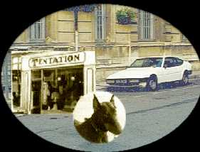 magasin Tentation + voiture matra + doberman ulric